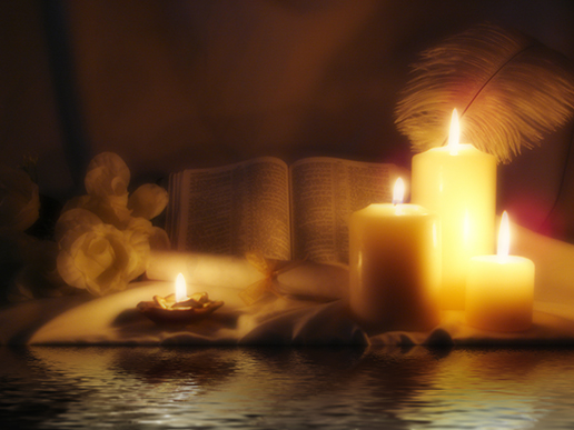 bible-candles-and-quill