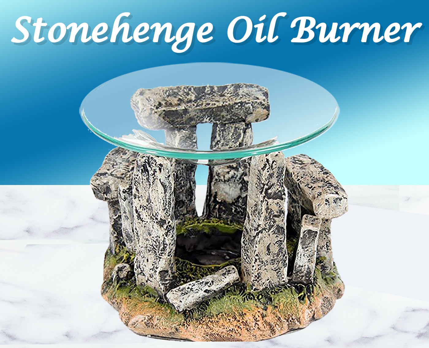 Stonehenge oil burner - circle of stones