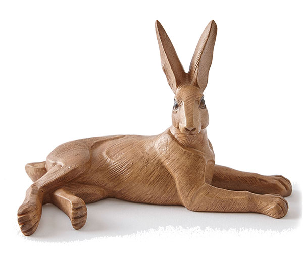 Hare laying pose ornament