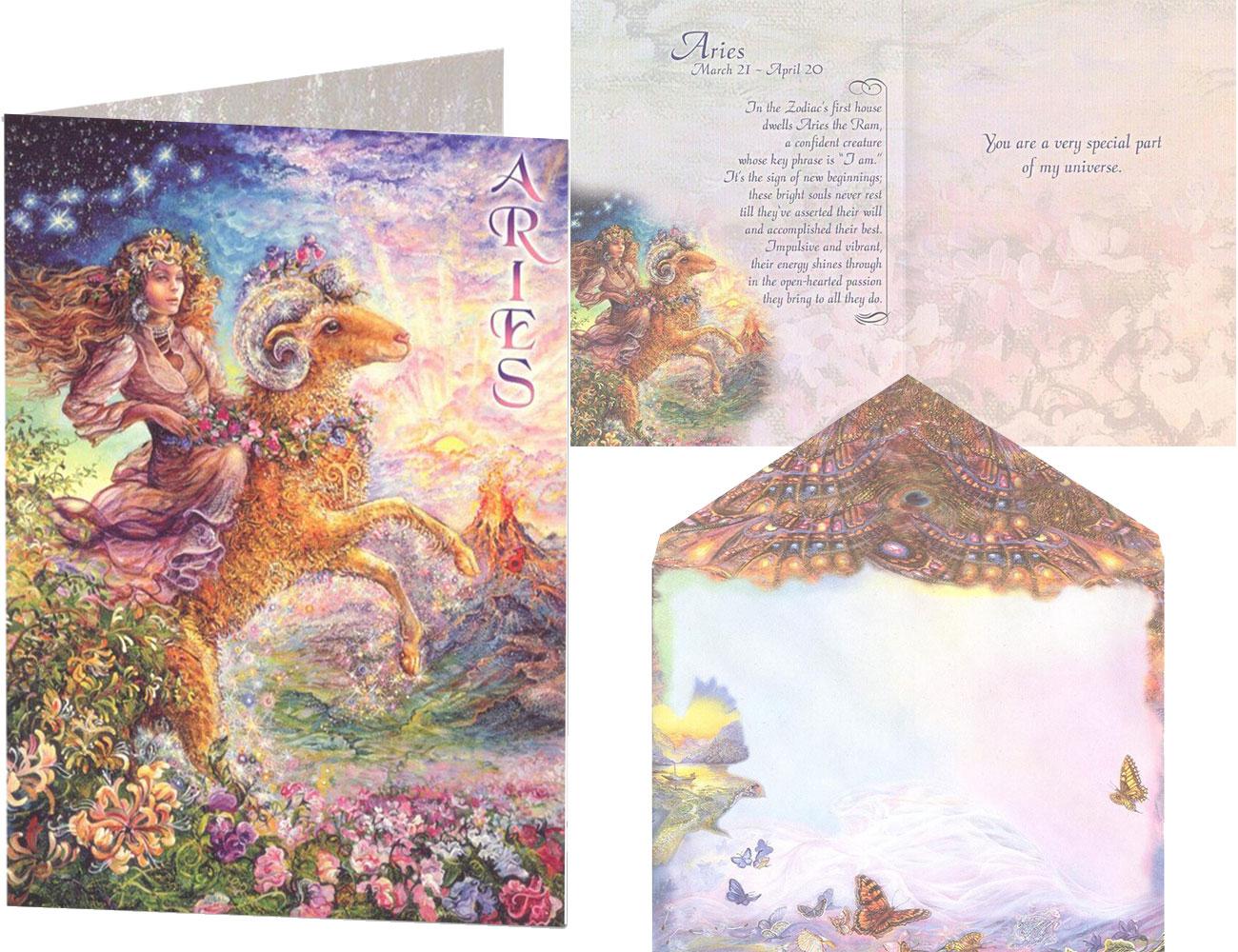 zodiac Aries greetings card