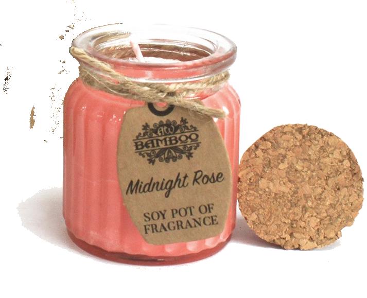 rose seaside candle