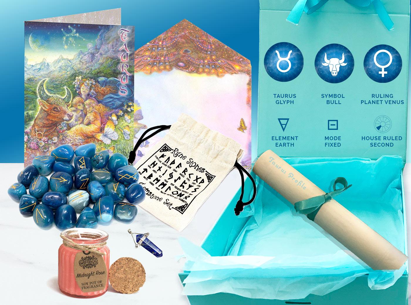 Taurus Gift Box and card