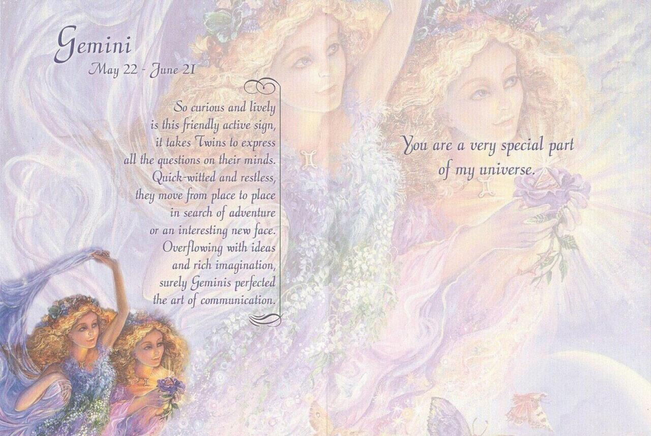 Gemini-Zodiac Card Josephine Wall