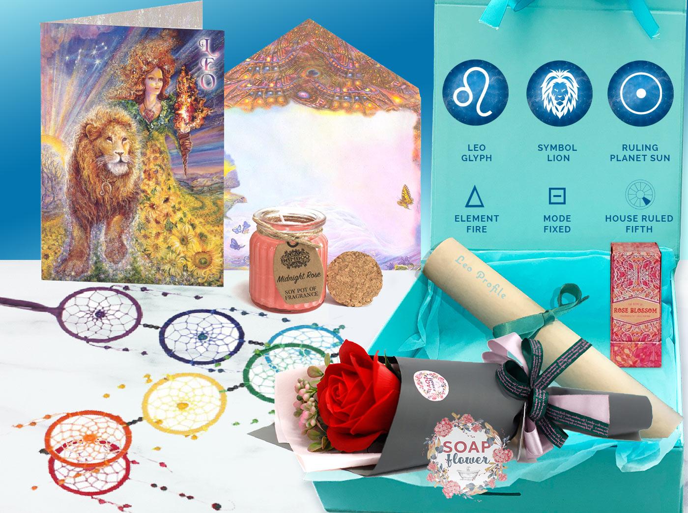 Leo Gift Box and card