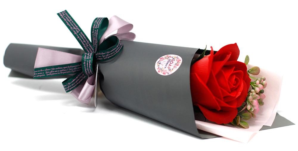 rose soap flower