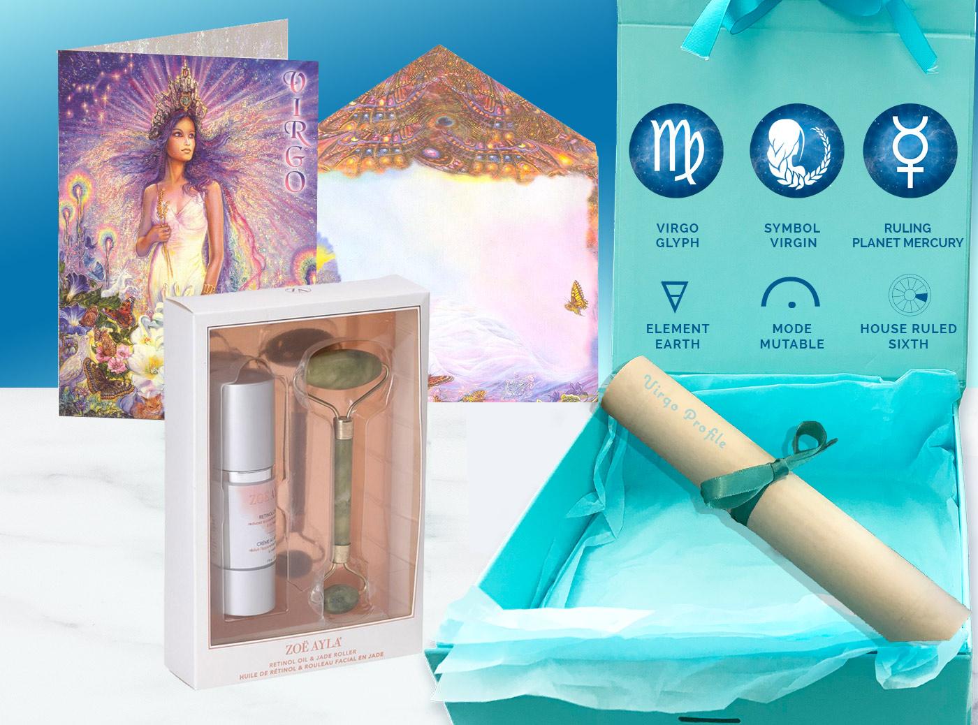 Virgo-Gift-Box Gift Box and card