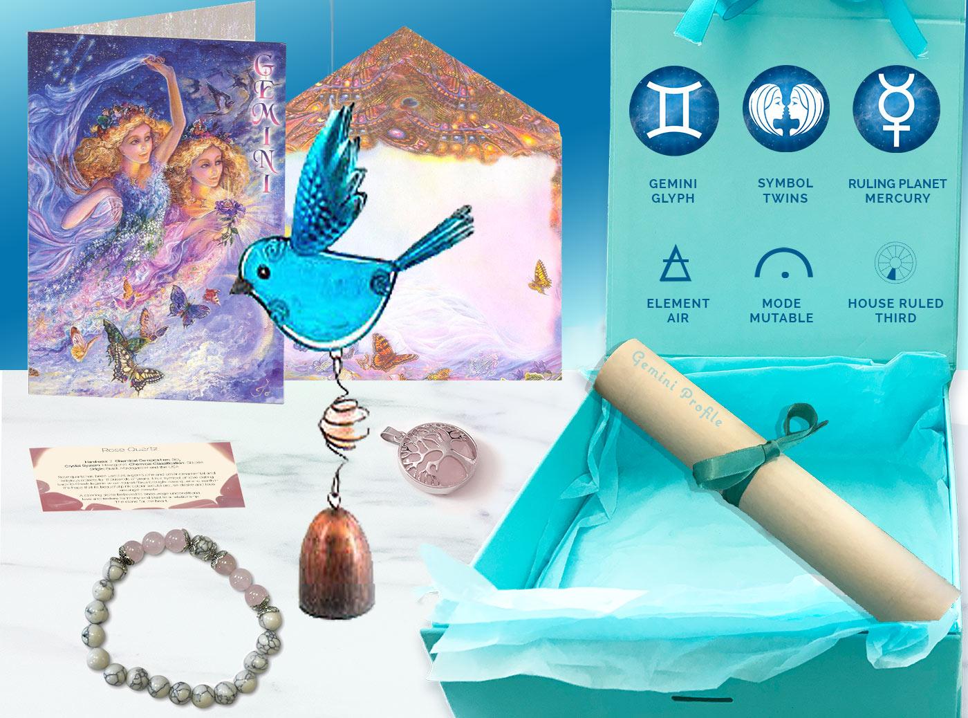 Gemini Gift Box and card