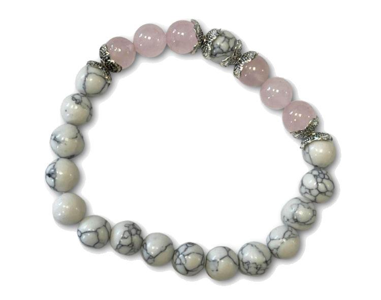 Rose-Quartz-Howlite-bracelet